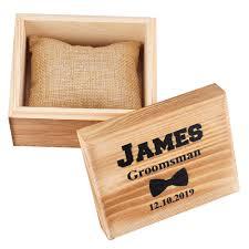 details about personalised wooden retro wedding gift box custom wood watch box groomsmen gift