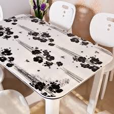 dining table cloth soft glass table cover transpa