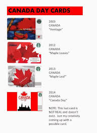starbucks special card edition 2 canada cards to celebrate canada day