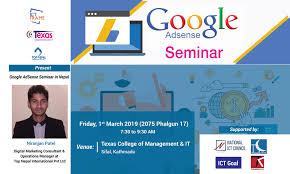 Adsense Designs Pvt Ltd Tech Magazine Nepal To Host Google Adsense Seminar