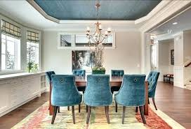 blue dining room chairs. Other Modern Teal Dining Room Chairs Within Blue Fabric Cool With