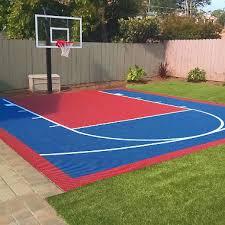 diy backyard basketball court. Perfect Diy Small Court DIY Backyard Basketball System Throughout Diy O
