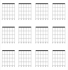 Blank Guitar Chord Chart Demire Agdiffusion With Regard To
