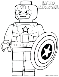 Captain America Coloring Page Pages Color Printable Shield Colouring