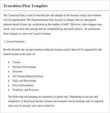 transition plan examples transition plan template 8 free samples examples format