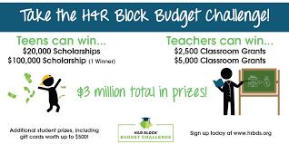 Budget Form Beauteous Kathy Schrock's Kaffeeklatsch HR Block Budget Challenge Get Ready