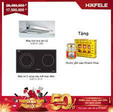 Combo Bếp 1 điện 1 từ + máy hút âm 90cm + Tặng Nước Yến Xào Hafele
