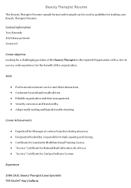 ... Beauty Therapy Resume Sample Industry Kennel Lead Massage Pertaining To  17 Astounding Cover Letter For Therapist ...