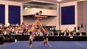 Leslie Munoz, Aimee Bruns & Tayler Harris - 2011 Acro Nationals - Combined  Routine - YouTube