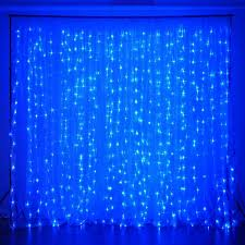 Light Blue Backdrop Curtain 20ft X 10ft 600 Sequential Blue Led Lights Big Photography