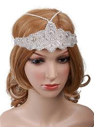 1920s hairstyles history long hair to bobbed hair vijiv womens silver headchain headpiece vine 1920s