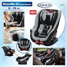 graco size4me 65 convertible car seat with rapid remove matrix