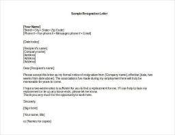 Sample Professional Resignation Letter Professional Resignation Letter Sample Template Business