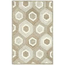 hand woven natural fiber grey ivory jute rug 3 x 5 bleached basket weave