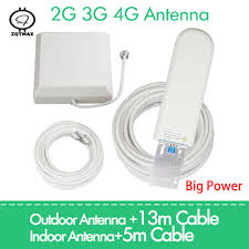 ZQTMAX antenna For cell phone Cellular Signal Amplifier <b>25dBi</b> 2g ...