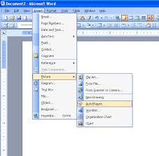 Office Word Format Insert Auto Shape In Microsoft Word Microsoft Office Support