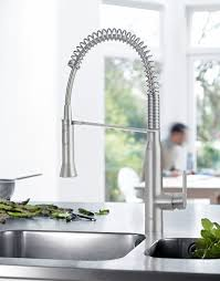 Tap Designs For Kitchens Grohe K7 Kitchen Tap High Spout Professional Spray And Starlight