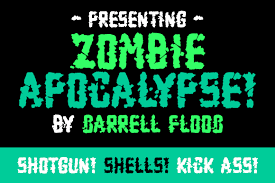These zombie hand vector designs can be used for cutting machines like the cricut, silhouette cameo etc. Zombie Apocalypse Font By Dadiomouse Creative Fabrica