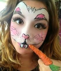 Small Picture Rabbit face paint for the teeth Easter bunny face paint Bunny