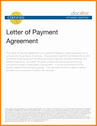 Sample Of Payment Agreement Letter Inspirational Payment Arrangement