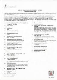 First Class Honours Cool Lancaster University Transcript
