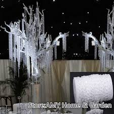 new 30meters 99feet roll 10mm acrylic disk beaded clear crystal garland strands for wedding