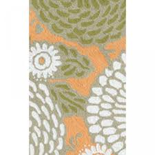 dandelion orange green white outdoor rug 8x10