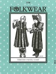 Folkwear Patterns Mesmerizing Folkwear 48 Tibetan Panel Coat Folkwear Patterns Vogue Fabrics