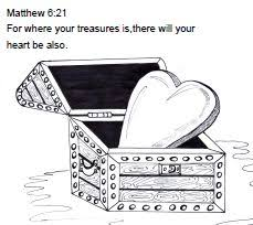 Small Picture Treasures in Heaven Bible Craft Bible crafts more Pinterest