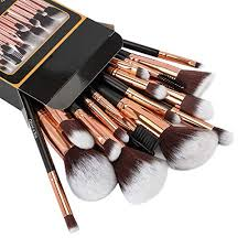 refand makeup brushes premium makeup brush set 18 pcs professional makeup kit rose gold black
