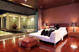 Red Mansion Master Bedrooms And Zen House With Detailed Garden