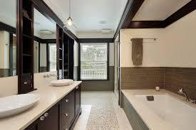 Modern Master Bathroom with Flat panel cabinets, frameless showerdoor, Raw  Silk Series, Shaker