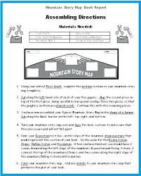 Directions Template Directions For Mountain Book Report Projects Graphic