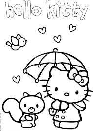 Hello Kitty Con Scoiattolo Disegni Da Colorare Gratis Disegni Da