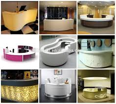 high end semi round spa front countersalons reception desk led salon high countersalons large