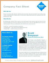 Printable Fact Sheet Template Company Example Templates – Peero Idea