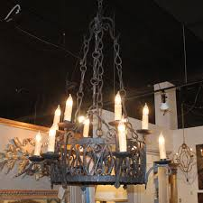 19th c french iron chandelier