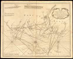 Stansted Charts A Large Chart Of The Downs East Kent Coast Dover Thanet Collins C1774 Map