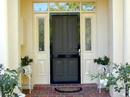 black metal screen doors. Exterior, Sturdy Metal Screen Door To Have: Painted Black Doors A