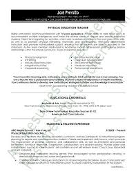 Physical Education Resume Sample Teacher Resume And Cover