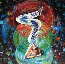original yoga painting omwoman yoga meditate. Original. Yoga Pose Painting - Asana By Mila Kronik Original Omwoman Meditate O