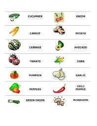 Vegetables Esl With Miriam