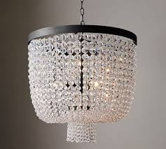 pottery barn mila beaded crystal chandelier pottery barn chandeliers