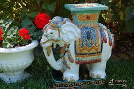 best ceramic garden stool for your decoration idea outdoor decoration by ceramic elephant garden stool