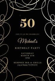50th Birthday Invitations Templates Milestone Birthday Invitation Templates Free Greetings
