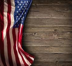 vintage wood american flag