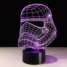 Knight Light Lamp Free Shipping 3d Star Wars Storm Knight Mode Usb Led