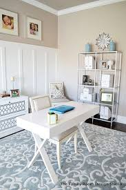 white airy home office. sita montgomery interiors my new home office progress and an ikea hack white airy b