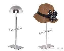 Hat Display Stands Wholesale Wholesale Stainless Steel Hat Display Stand Rack Adjustable Metal 1