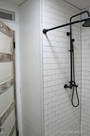 farmhouse bathroom remodel on a budget from easy to find tile to l and stick